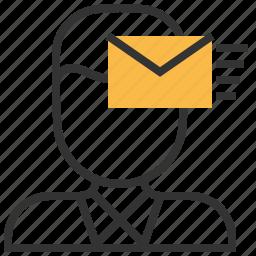 comment, communication, conversation, direct, email, message icon
