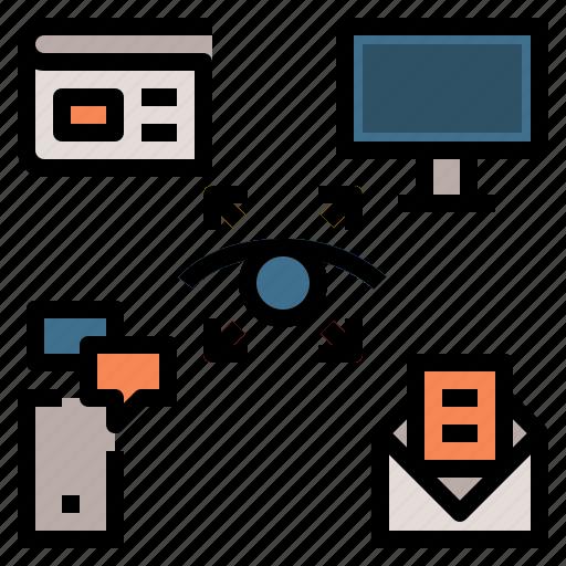 app, cross, marketing, media, web icon