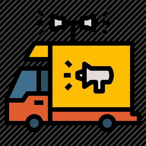 ads, advertising, branding, car, transport icon