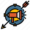 group, marketing, people, target, team icon
