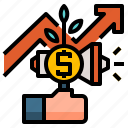 business, concept, growth, progress, success icon