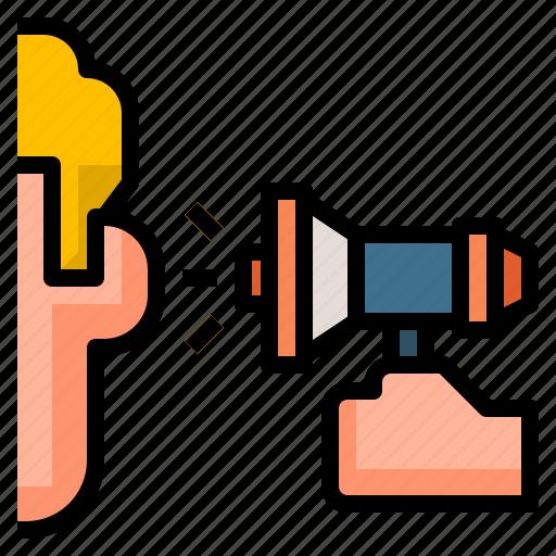 loudspeaker, megaphone, message, speaker, voice icon