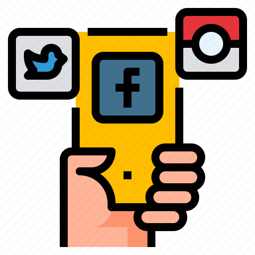 internet, media, mobile, network, social icon