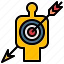 arrow, goal, marketing, success, target icon