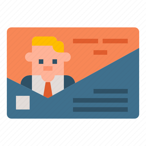 business, card, communication, contact, identity icon
