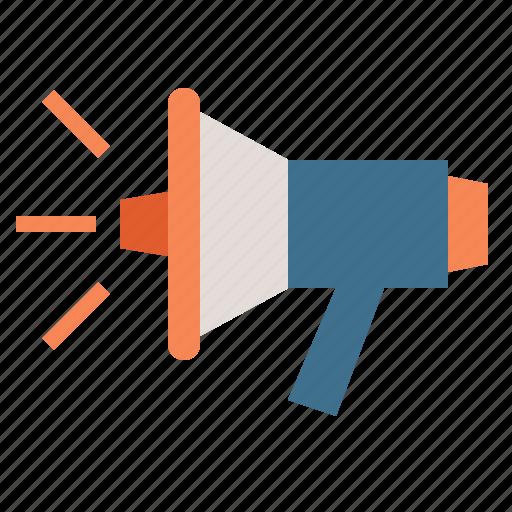 business, communication, marketing, media, megaphone icon