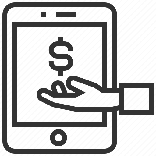 business, device, finance, marketing, mobile, payment icon