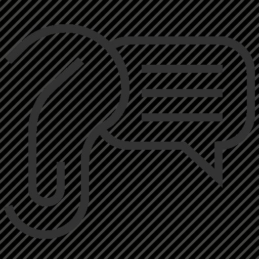 ear, message, rumor, speech icon