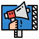 advertising, billboard, business, megaphone icon