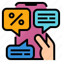 advertising, business, messages, text icon