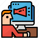 advertising, computer, internet, technology icon