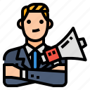 agency, business, marketing, megaphone icon