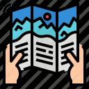 advertising, brochure, marketing, printing icon