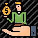 consumer, customer, investor, support