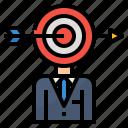 consumer, customer, market, target icon
