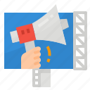 advertising, billboard, business, megaphone icon