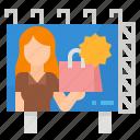 advertising, billboard, marketing, sign icon