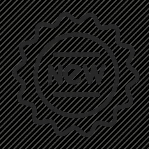 banner, label, new, ribbon, sticker icon
