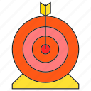 arrow, dart, game, target icon