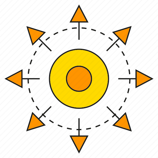 arrow, distribution, spread icon
