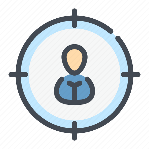 audience, hit, marketing, people, person, seo, target icon