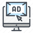 ad, ads, advertisement, advertising, computer, online, website icon