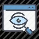 eye, online, search, website icon
