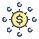 budget, coin, currency, dollar, invest, investing, investment icon