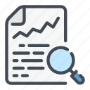 analytics, doc, report, request, search, statistics, stats icon