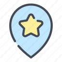 best, favourite, location, pin, place, pointer, star icon