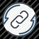chain, change, refresh, update icon