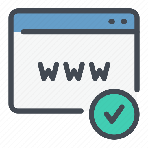 Check Domain Done Online Tick Website Www Icon