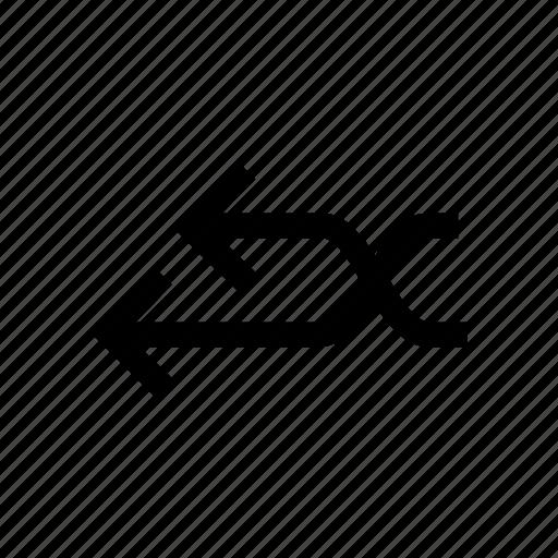 arrow, arrows, connect, cross, joint, left, shuffle icon