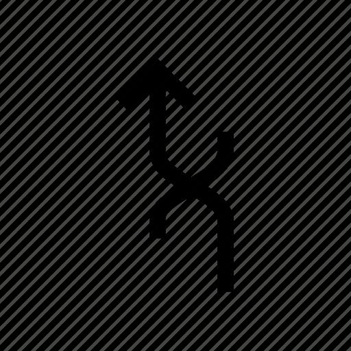 arrow, arrows, connect, cross, up icon