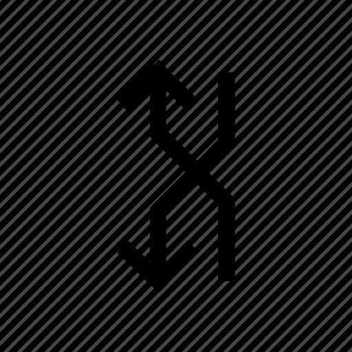 arrow, arrows, down, sign, up icon