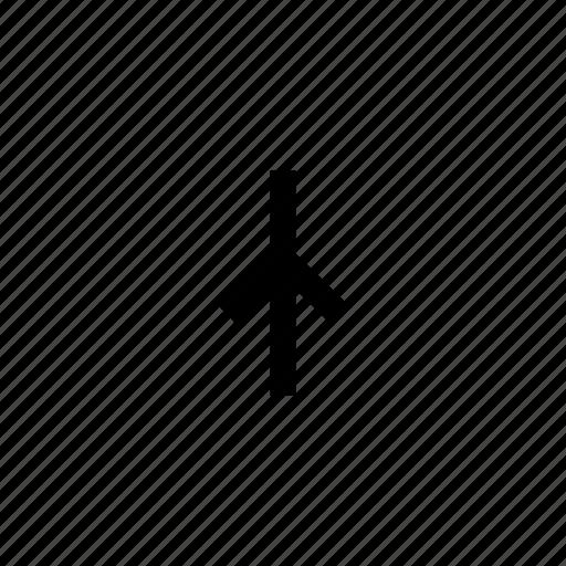 arrow, arrows, sign, straight, up, way icon