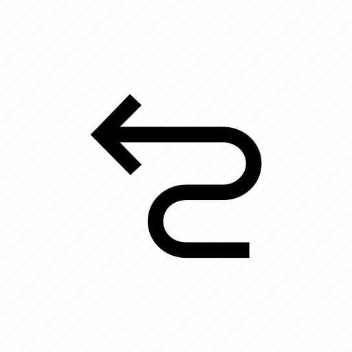 arrow, arrows, stright, way, zigzag icon