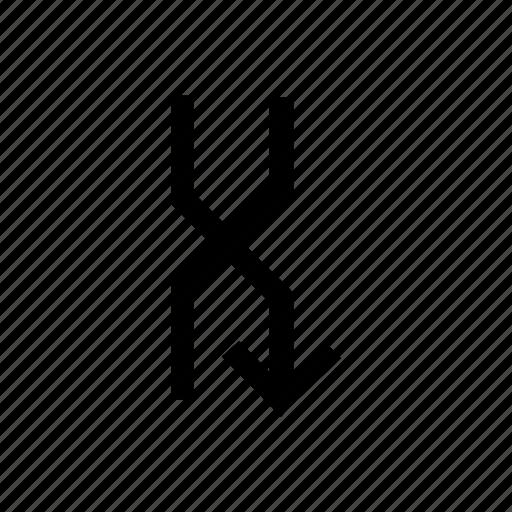 arrow, arrows, connect, cross, down, right, shuffle icon