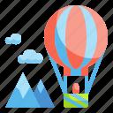 air, balloon, transportation, travel, trip icon