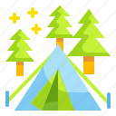 activities, camping, nature, outdoors, travel icon
