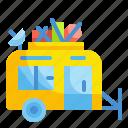 activities, caravan, outdoors, travel, vehicle icon