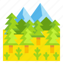 forest, landscape, nature, tree, woodland icon