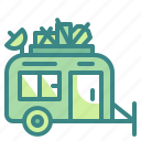 activities, caravan, outdoors, travel, vehicle icon