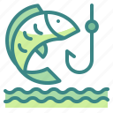 activities, fishing, nature, outdoors, travel icon