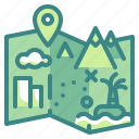 gps, location, map, outdoors, point icon