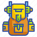 adventure, backpack, luggage, outdoors, trip icon