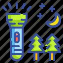 exploration, flashlight, illumination, light, torch icon