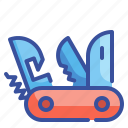 blade, equipment, knife, swiss, tool icon