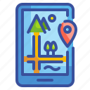 call, gps, location, map, phone icon