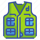 cloth, coat, hunting, vest, waistcoat icon